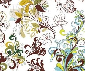 Colorful Floral Ornaments vector