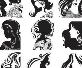 Female Faces free vector