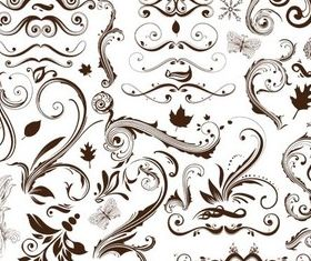 Natural Style Ornaments shiny vector