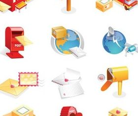 Post Icons free vector