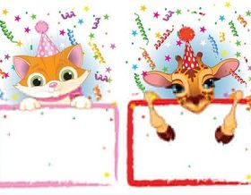 Cute Birthday Frames vector material