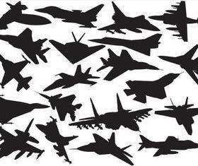 Black Planes Templates vector graphic