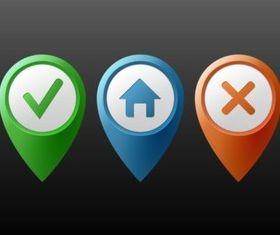 Location Markers vector