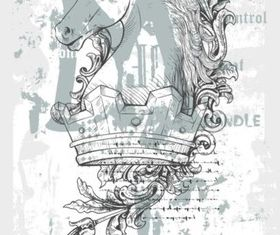Crown Horse Shirt Design vector