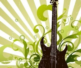 Grunge Guitar set vector