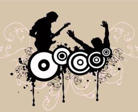Rock Concert creative vector