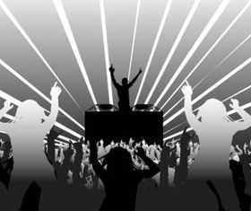 DJ and Party People vector design