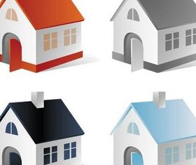 White Cottages vector