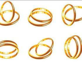 Gold Wedding Rings vector