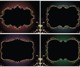 Floral Luxury Frames vectors graphic