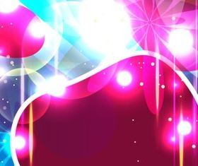 Halo colorful background vector