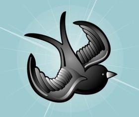 Tattoo Bird Image vector