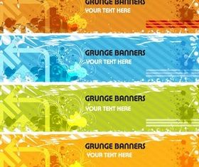 Grunge Pointer Banners vectors