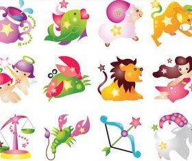 Funny Zodiac Symbols vector