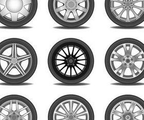 Car Wheels graphic vector