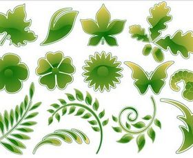 Stylish Natural Elements vector