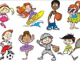Children graphic vector graphics