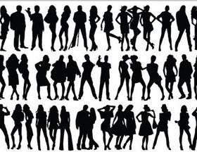 People Silhouettes free vector graphics