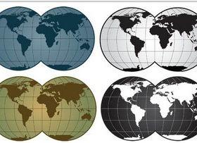 Color World Map design vectors