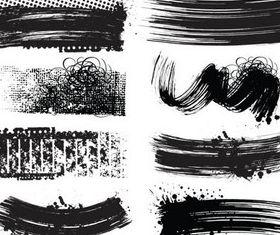 Black Grunge Elements set vector