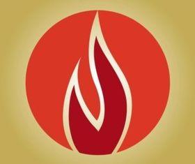 Flames Icon set vector