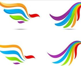 Creative Colorful Logotypes vector graphic