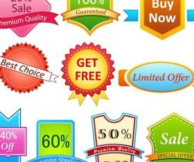 Sale Badgets free vector material