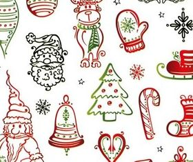 Christmas Elements vectors graphics
