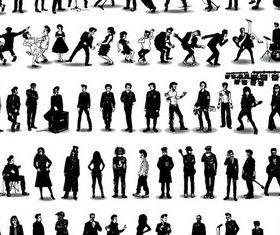 Musicians graphic design vectors