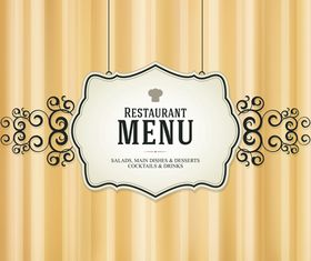 Retro menu cover 1 vector