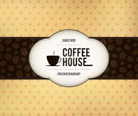 Retro coffee house menu cover 1 vector