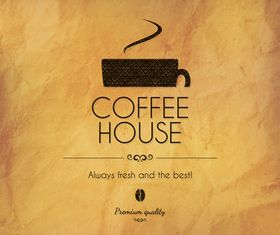 Retro coffee house menu cover 2 vector