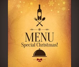 Christmas menu cover vector graphic