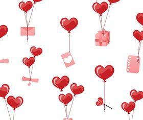 Hearts balloon vectors material