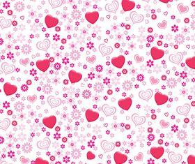 Hearts pattern vector design