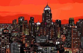 City background design 2 vector
