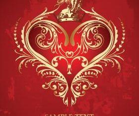 Valentine crown background 6 vector