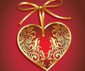 Valentine hearts cards 1 vector