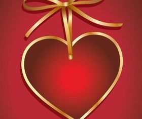 Valentine hearts cards 2 vector