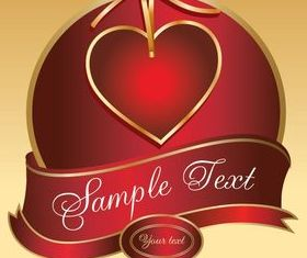 Valentine hearts cards 3 vector