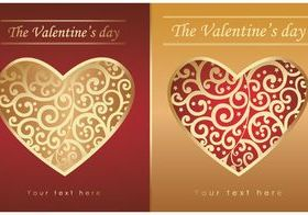 Valentine hearts cards 5 vector