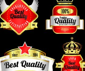 Royal glass labels 2 vector