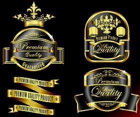 Royal glass labels 4 vector