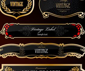 Royal glass labels 6 vector