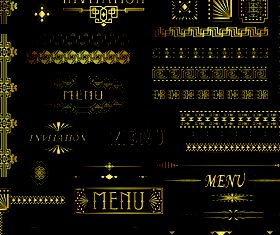 Golden border and frames 1 vectors
