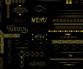 Golden border and frames 2 vectors