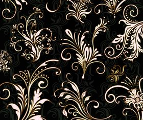 Golden floral ornaments 2 design vectors