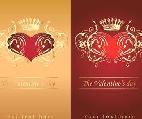 Valentine crown background 2 vector