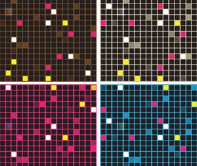 Mosaic backgrounds design vector