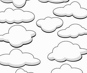 Cartoon clouds 1 vector